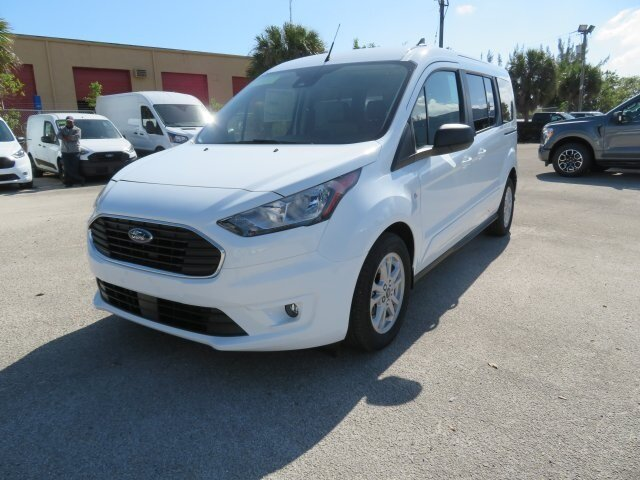 2021 Frozen White Ford Transit Connect XLT Van FWD I4 Engine 4 Door Automatic