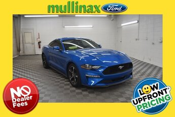 2019 Velocity Blue Metallic Ford Mustang EcoBoost 2 Door Automatic Coupe EcoBoost 2.3L I4 GTDi DOHC Turbocharged VCT Engine