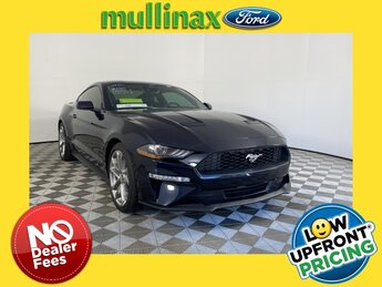 2021 Blue Ford Mustang EcoBoost Premium EcoBoost 2.3L I4 GTDi DOHC Turbocharged VCT Engine 2 Door RWD