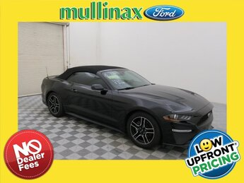2018 Shadow Black Ford Mustang EcoBoost Premium EcoBoost 2.3L I4 GTDi DOHC Turbocharged VCT Engine RWD Convertible Automatic 2 Door