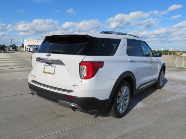 2021 Star White Metallic Tri-Coat Ford Explorer Limited 4 Door SUV 3.0L I4 PDI Hybrid Turbocharged DOHC 16V LEV3-ULEV70 300hp Engine RWD Automatic