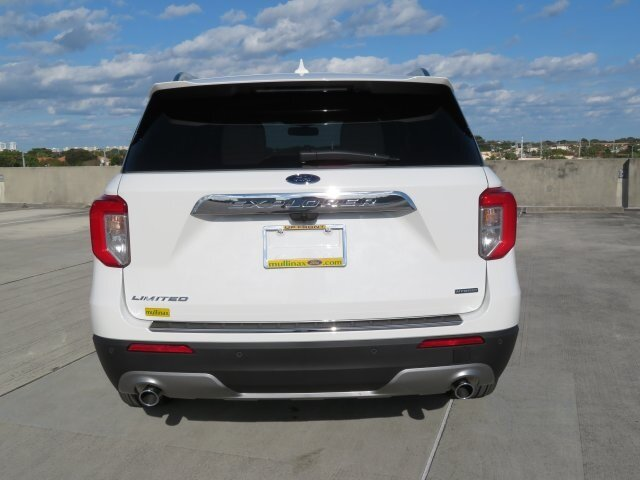 2021 Star White Metallic Tri-Coat Ford Explorer Limited RWD SUV 4 Door Automatic
