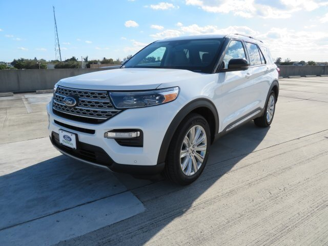 2021 Star White Metallic Tri-Coat Ford Explorer Limited 4 Door Automatic SUV RWD 3.0L I4 PDI Hybrid Turbocharged DOHC 16V LEV3-ULEV70 300hp Engine