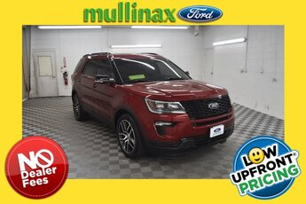 2019 Ruby Red Metallic Tinted Clearcoat Ford Explorer Sport Automatic 4X4 SUV
