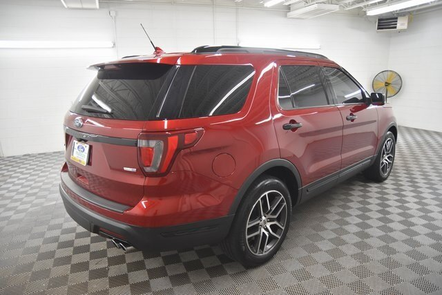 2019 Ruby Red Metallic Tinted Clearcoat Ford Explorer Sport Automatic SUV 4X4 4 Door 3.5L Engine