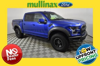 2018 Lightning Blue Ford F-150 Raptor Truck 4X4 Automatic 4 Door EcoBoost 3.5L V6 GTDi DOHC 24V Twin Turbocharged Engine