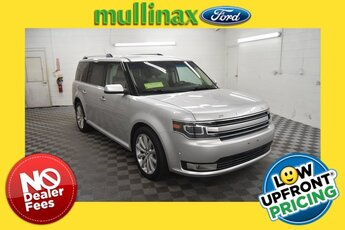 2018 Ingot Silver Metallic Ford Flex Limited AWD EcoBoost 3.5L V6 GTDi DOHC 24V Twin Turbocharged Engine SUV 4 Door