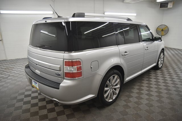 2018 Ingot Silver Metallic Ford Flex Limited SUV Automatic EcoBoost 3.5L V6 GTDi DOHC 24V Twin Turbocharged Engine 4 Door