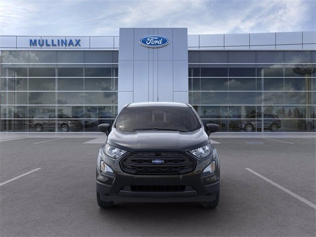 2021 Shadow Black Ford EcoSport S EcoBoost 1.0L I3 GTDi DOHC Turbocharged VCT Engine 4 Door SUV Automatic
