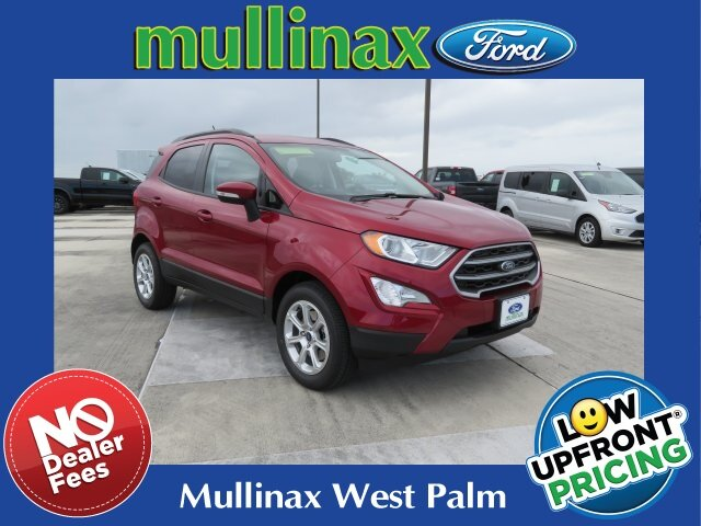 2021 Ruby Red Metallic Tinted Clearcoat Ford EcoSport SE SUV EcoBoost 1.0L I3 GTDi DOHC Turbocharged VCT Engine 4 Door Automatic FWD
