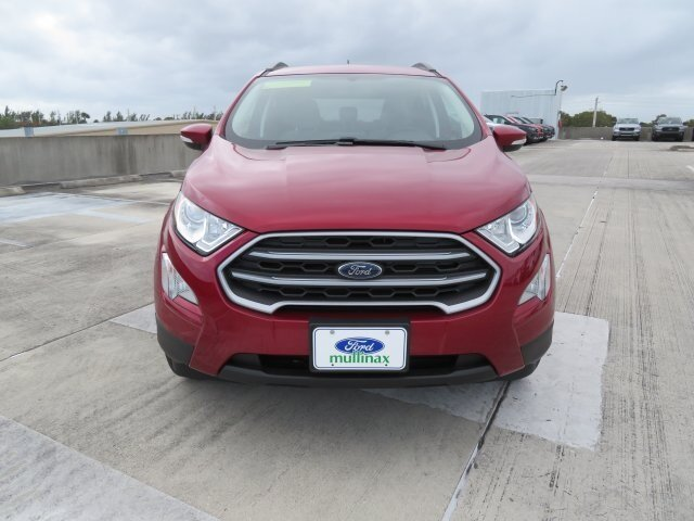 2021 Ruby Red Metallic Tinted Clearcoat Ford EcoSport SE SUV EcoBoost 1.0L I3 GTDi DOHC Turbocharged VCT Engine 4 Door