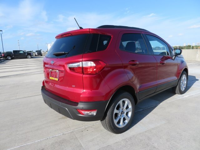 2021 Ruby Red Metallic Tinted Clearcoat Ford EcoSport SE FWD EcoBoost 1.0L I3 GTDi DOHC Turbocharged VCT Engine SUV