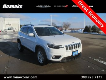 2019 Bright White Clearcoat Jeep Cherokee Latitude 4 Door Automatic 2.4L I4 Engine FWD SUV
