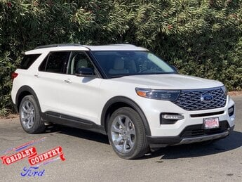 2020 Star White Metallic Tri-Coat Ford Explorer Platinum 4 Door AWD SUV Twin Turbo Premium Unleaded V-6 3.0 L/183 Engine Automatic
