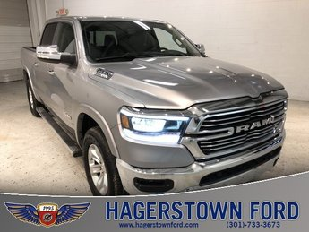 2019 Billet Silver Metallic Clearcoat Ram 1500 Laramie 4 Door Truck Automatic HEMI 5.7L V8 Multi Displacement VVT Engine