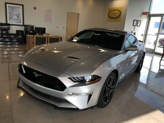 2019 Ingot Silver Metallic Ford Mustang GT 2 Door 5.0L V8 Ti-VCT Engine RWD Automatic Coupe