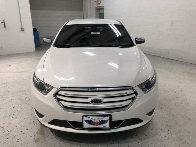 2018 White Platinum Clearcoat Metallic Ford Taurus Limited FWD 4 Door Sedan 3.5L V6 Ti-VCT Engine Automatic