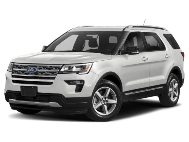 2019 Oxford White Ford Explorer XLT Automatic 2.3L I4 Engine 4X4 SUV