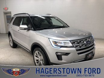2018 Ingot Silver Metallic Ford Explorer Limited 4X4 4 Door Automatic