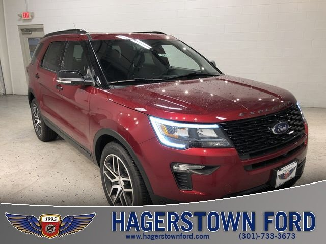 2018 Ruby Red Metallic Tinted Clearcoat Ford Explorer Sport SUV 4X4 3.5L Engine 4 Door