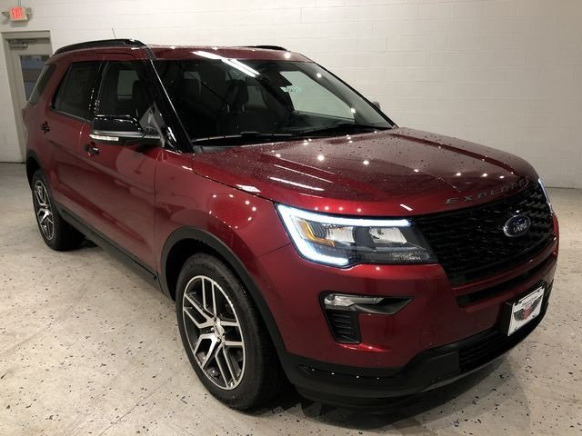 2018 Ruby Red Metallic Tinted Clearcoat Ford Explorer Sport SUV 4X4 Automatic 3.5L Engine