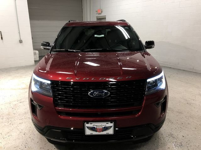 2018 Ruby Red Metallic Tinted Clearcoat Ford Explorer Sport 4 Door 3.5L Engine Automatic 4X4