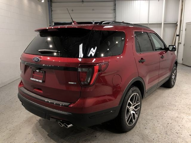2018 Ruby Red Metallic Tinted Clearcoat Ford Explorer Sport Automatic 4 Door 3.5L Engine