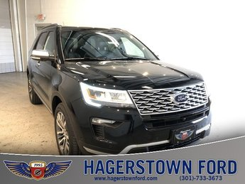 2018 Shadow Black Ford Explorer Platinum 4 Door Automatic 4X4