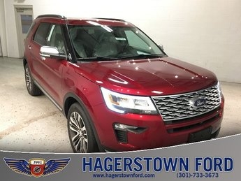 2018 Ruby Red Metallic Tinted Clearcoat Ford Explorer Platinum 4 Door 3.5L Engine Automatic 4X4
