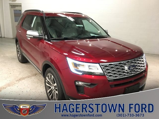 2018 Ruby Red Metallic Tinted Clearcoat Ford Explorer Platinum 4X4 SUV 3.5L Engine