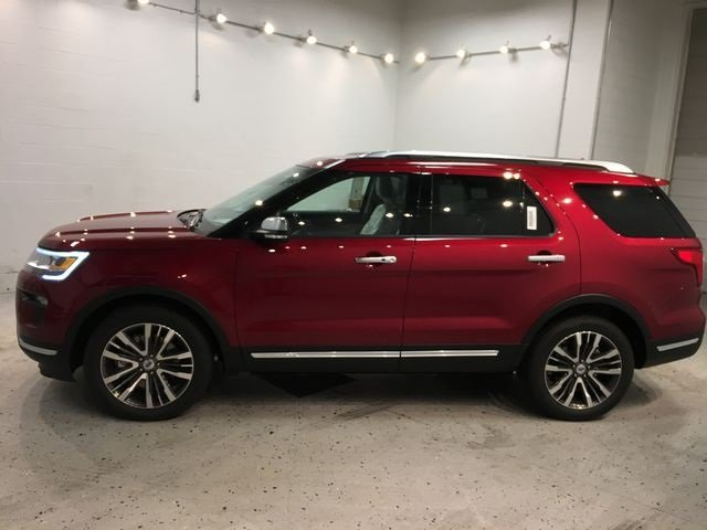 2018 Ruby Red Metallic Tinted Clearcoat Ford Explorer Platinum 4X4 SUV 4 Door Automatic 3.5L Engine