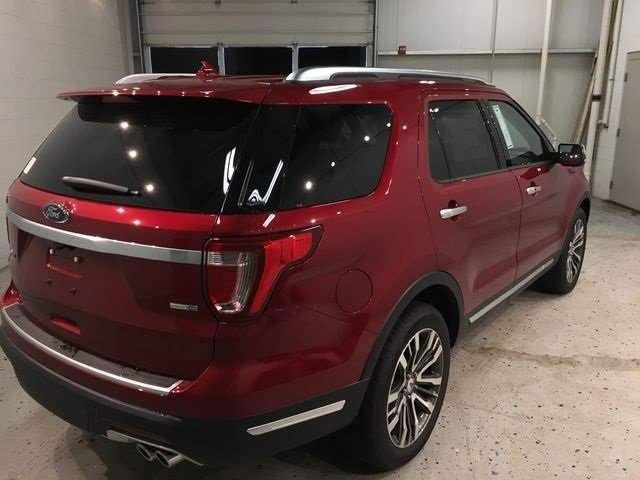 2018 Ruby Red Metallic Tinted Clearcoat Ford Explorer Platinum SUV Automatic 4 Door 4X4 3.5L Engine