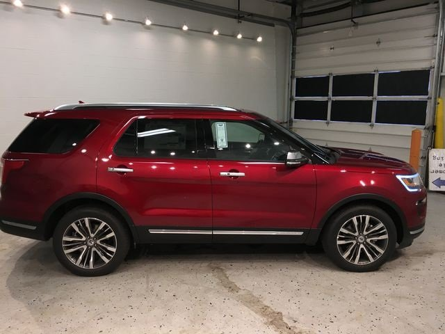 2018 Ruby Red Metallic Tinted Clearcoat Ford Explorer Platinum 3.5L Engine SUV Automatic