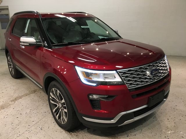 2018 Ruby Red Metallic Tinted Clearcoat Ford Explorer Platinum 3.5L Engine 4 Door 4X4 Automatic