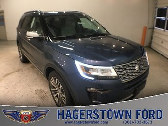 2018 Blue Metallic Ford Explorer Platinum 3.5L Engine Automatic SUV 4X4