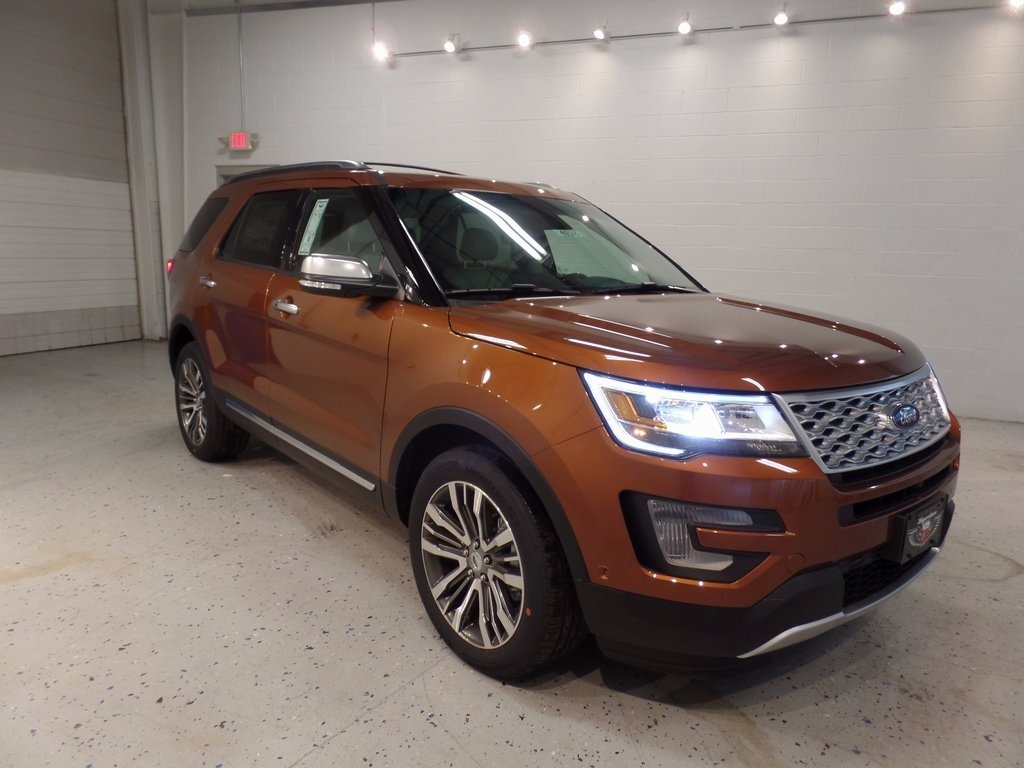 2017 Canyon Ridge Metallic Ford Explorer Platinum Automatic 4 Door SUV EcoBoost 3.5L V6 GTDi DOHC 24V Twin Turbocharged Engine 4X4