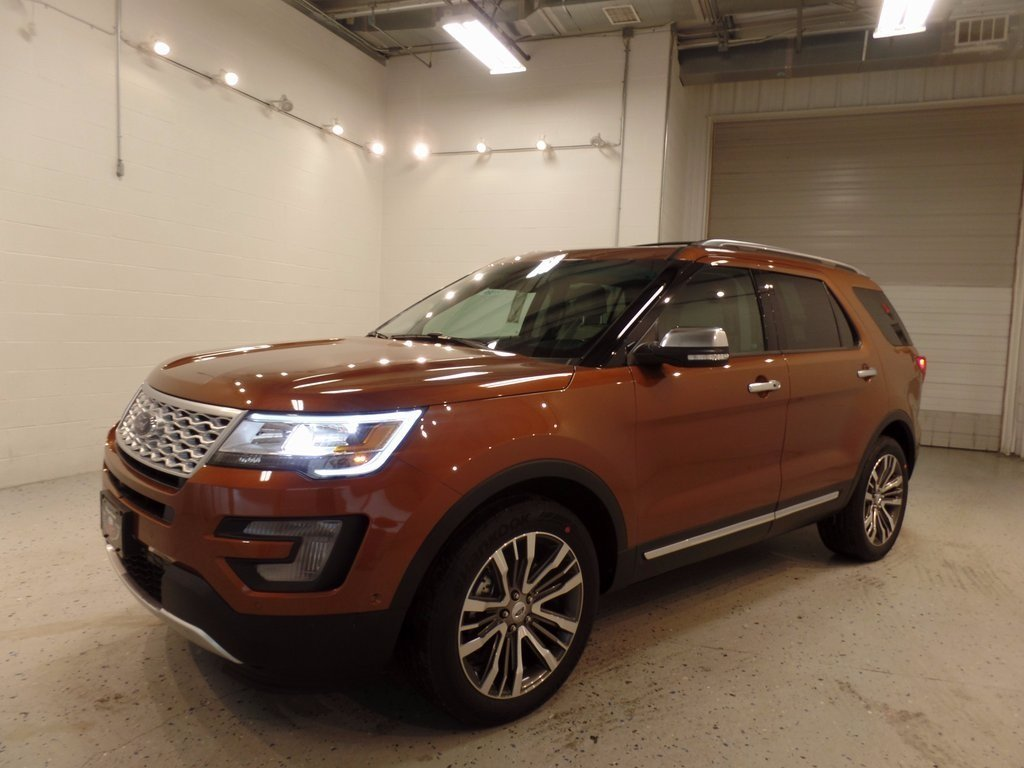 2017 Canyon Ridge Metallic Ford Explorer Platinum EcoBoost 3.5L V6 GTDi DOHC 24V Twin Turbocharged Engine 4 Door 4X4 Automatic SUV