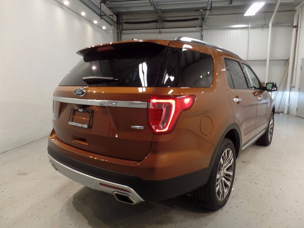 2017 Ford Explorer Platinum 4 Door EcoBoost 3.5L V6 GTDi DOHC 24V Twin Turbocharged Engine SUV 4X4 Automatic