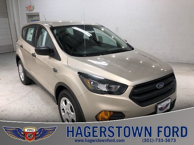 2018 White Gold Metallic Ford Escape S SUV Automatic 2.5L iVCT Engine FWD