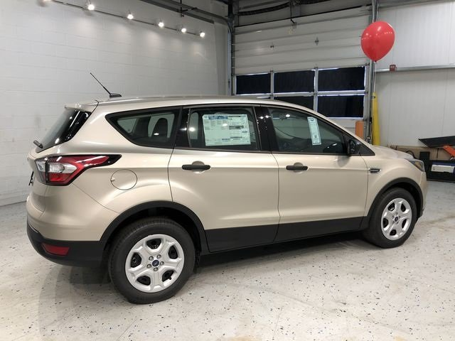 2018 White Gold Metallic Ford Escape S FWD 2.5L iVCT Engine SUV Automatic 4 Door