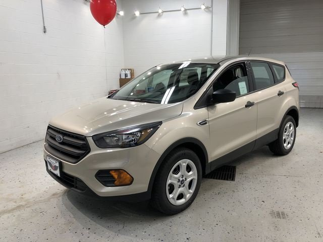 2018 White Gold Metallic Ford Escape S Automatic FWD 2.5L iVCT Engine SUV 4 Door