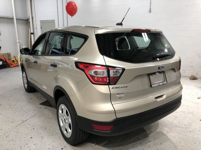 2018 White Gold Metallic Ford Escape S Automatic 4 Door 2.5L iVCT Engine FWD SUV
