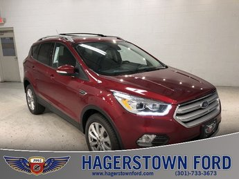 2018 Ruby Red Metallic Tinted Clearcoat Ford Escape Titanium Automatic 4X4 4 Door SUV EcoBoost 2.0L I4 GTDi DOHC Turbocharged VCT Engine