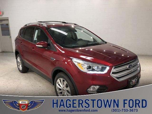 2018 Ruby Red Metallic Tinted Clearcoat Ford Escape Titanium SUV Automatic EcoBoost 2.0L I4 GTDi DOHC Turbocharged VCT Engine