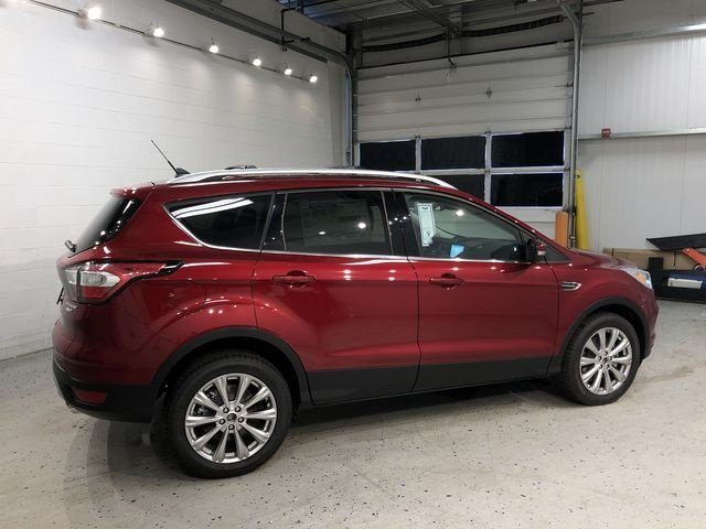 2018 Ruby Red Metallic Tinted Clearcoat Ford Escape Titanium EcoBoost 2.0L I4 GTDi DOHC Turbocharged VCT Engine 4X4 4 Door SUV Automatic