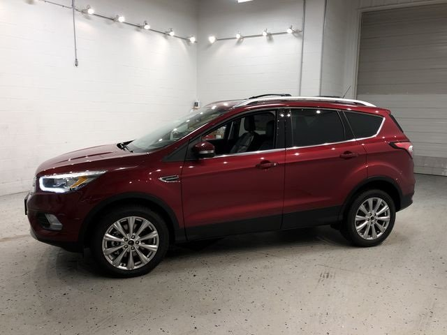 2018 Ruby Red Metallic Tinted Clearcoat Ford Escape Titanium 4 Door Automatic EcoBoost 2.0L I4 GTDi DOHC Turbocharged VCT Engine