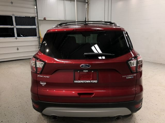 2018 Ruby Red Metallic Tinted Clearcoat Ford Escape Titanium EcoBoost 2.0L I4 GTDi DOHC Turbocharged VCT Engine 4X4 Automatic SUV 4 Door