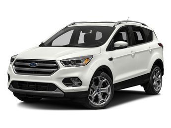 2018 White Platinum Metallic Tri-Coat Ford Escape Titanium Automatic EcoBoost 2.0L I4 GTDi DOHC Turbocharged VCT Engine 4X4