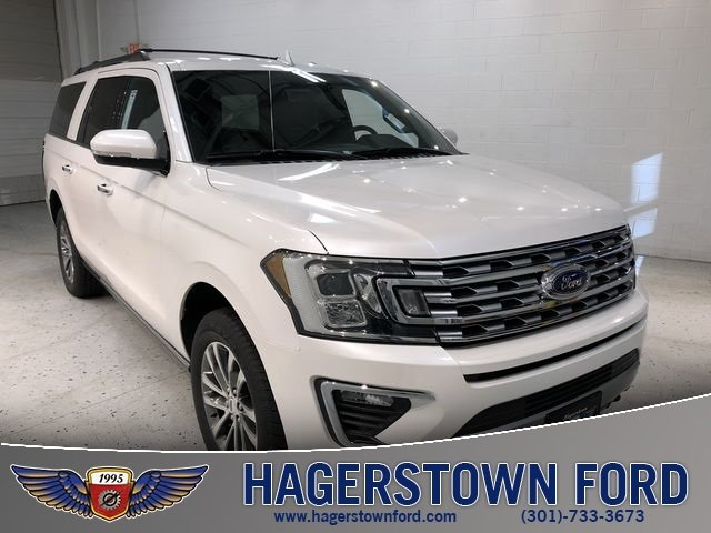 2018 White Metallic Ford Expedition Max Limited SUV 4X4 EcoBoost 3.5L V6 GTDi DOHC 24V Twin Turbocharged Engine Automatic 4 Door