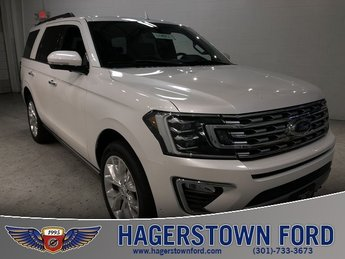 2018 White Metallic Ford Expedition Limited Automatic EcoBoost 3.5L V6 GTDi DOHC 24V Twin Turbocharged Engine 4X4 SUV